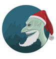 Evil Santa Claus in red hat