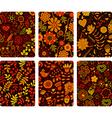 fashion tablet skins modern floral patterns vector image vector image