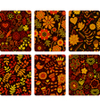 Fashion tablet skins Modern floral patterns with vector image
