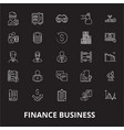 finance business editable line icons set on vector image vector image