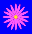 flower on the blue background vector image vector image