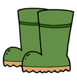 Gardening Rubber Boots vector image vector image