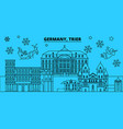 germany trier winter holidays skyline merry vector image vector image
