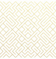 golden abstract geometric pattern background with vector image vector image