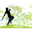 Grunge Background with dancing girl on Posters vector image vector image