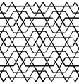 hand drawn seamless pattern with hexagon shapes vector image