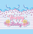 happy baby card vector image vector image
