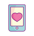 happy valentines day smartphone application heart vector image