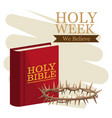 holy week catholic tradition vector image vector image