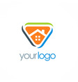house triangle logo vector image