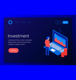 investment isometric concept vector image vector image