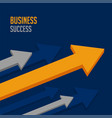 leading business arrow for company success vector image
