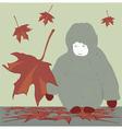 Leaf fall vector image