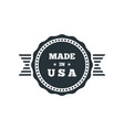 made in usa badge with usa flag elements vector image