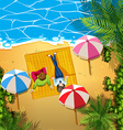 Man and woman relaxing on the beach vector image