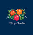 merry christmas poster vector image vector image