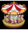Merry-go-round with zebra and unicorn vector image