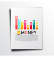 money business annual report concept with graph vector image vector image