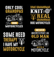 motorcycle quote and saying set of motorcycle vector image vector image