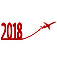 new year 2018 with airplane vector image vector image