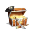 Pirate treasure chest vector image vector image