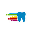 pixel art dental logo icon design vector image