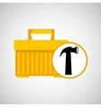plastic tool box hammer icon vector image vector image