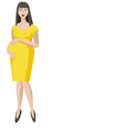 Pregnant woman in yellow vector image