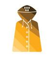 raincoat icon vector image vector image