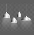 realistic detailed 3d interior lamp set vector image