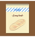 Recipe Book Long Loaf vector image vector image