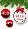 Sale round christmas balls vector image