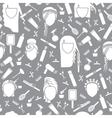 Seamless pattern barbershop vector image vector image