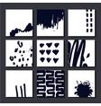set artistic cards posterls art hand vector image vector image