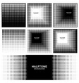 Set of Abstract Halftone Square Backgrounds vector image vector image
