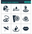 Set of modern icons Beauty salon cosmetics vector image