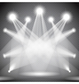 Set of scene illuminations transparent effects vector image