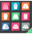 Set with skirts icons vector image vector image
