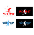 ski logo vector image vector image