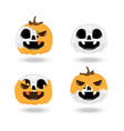 skull pumpkin halloween vector image vector image