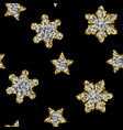 snowflakes from sequins winter seamless vector image vector image