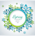 spring or summer design with a textured abstract vector image vector image