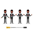 suprised african business man waving her hand vector image vector image