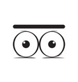 surprised eyes cartoon vector image vector image