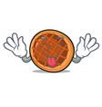tongue out baket pie mascot cartoon vector image vector image