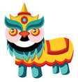 traditional chinese dragon monster on white vector image vector image