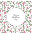 Valentines Day card with hearts ornament vector image vector image