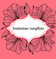 vintage card with amaryllis flower vector image vector image