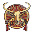 wild west badge vector image