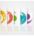 Abstract circles template Color icon vector image